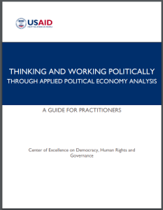 Thinking and Working Politically through Applied Political Economy Analysis